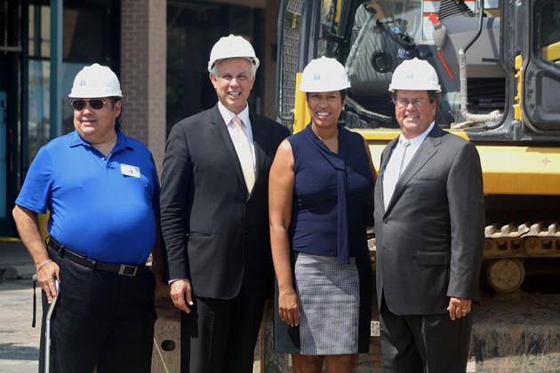 Gary Rappaport and Muriel Boswer (center) at H Street Connection demolition ceremony