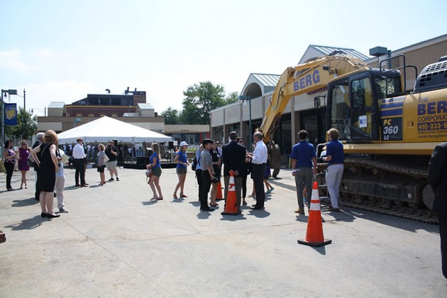 Guests arriving to H Street Connection demolition ceremony