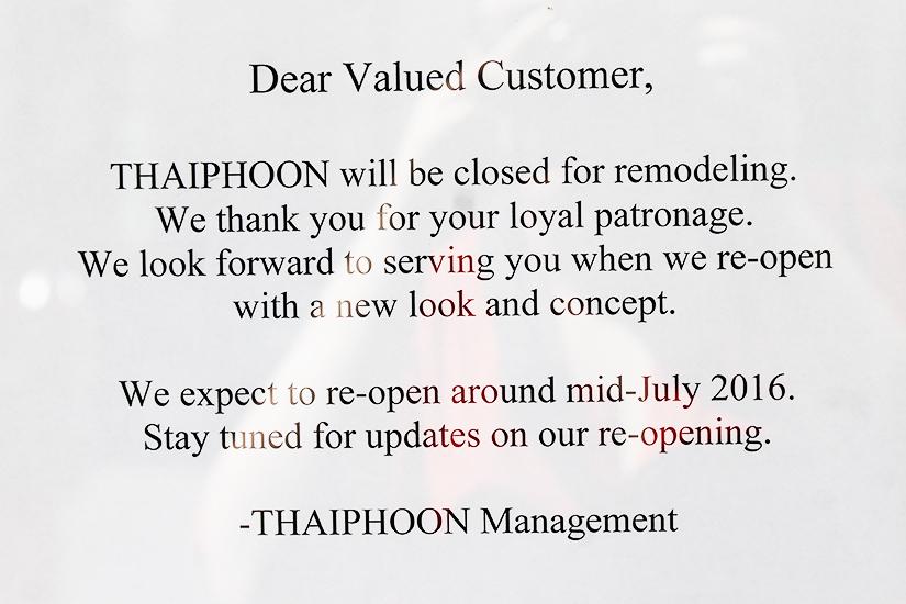 Thai Restaurant In Dupont Closes For Remodeling Borderstan