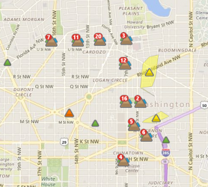 Power outage image via Pepco