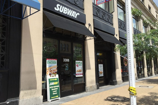 Subway at 3306 14th St. NW