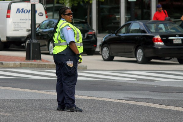 Traffic guard downtown BRIEF