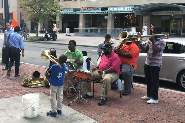 Band at Dupont Circle Metro