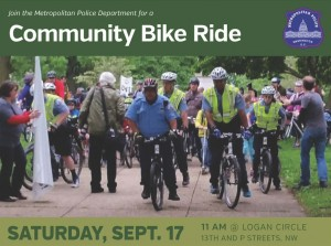 Bike ride flyer via MPD