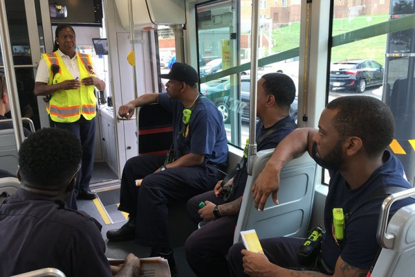 D.C. Firefighters on D.C. Streetcar, photo via Twitter : DCFIREEMS