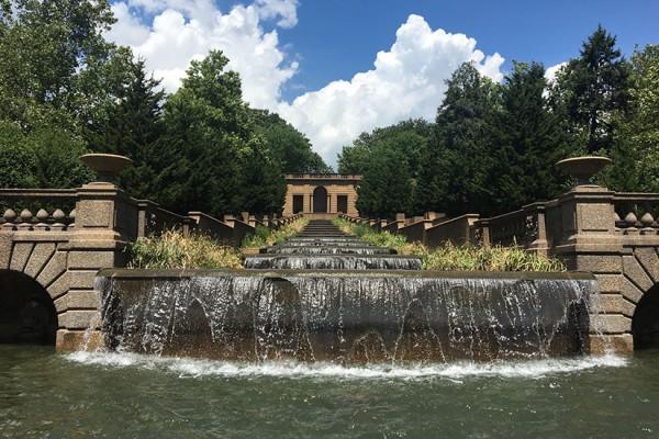 Meridian Hill Park fountain on Aug. 12, 2016