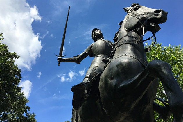 Joan of Arc held her sword as recently as Aug. 18