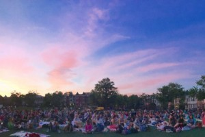 Columbia Heights outdoor film screening (Photo via Columbia Heights Initiative)