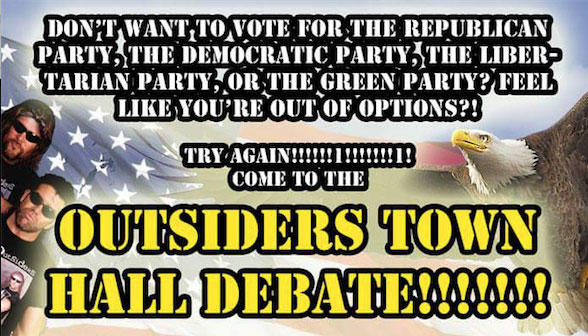 Outsiders Town Hall (Image via Facebook/Laugh Owens Laugh)