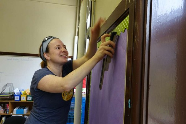 School Without Walls at Francis-Stevens Beautification Day volunteer (Photo courtesy of Chris Sondreal)