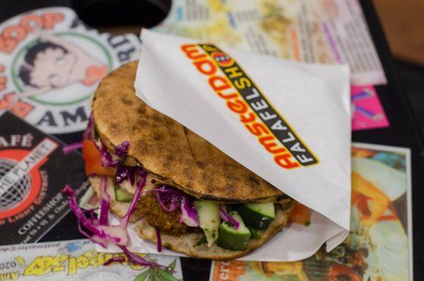 Amsterdam Falafelshop sandwich (Photo via Facebook/Amsterdam Falafelshop)