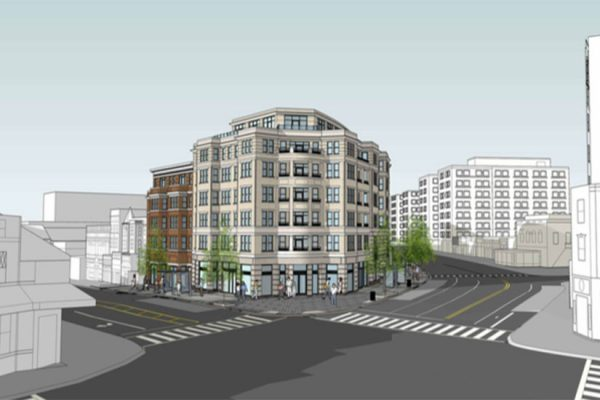 Rendering released on Sept. 13, 2016, for PN Hoffman's mixed-use building at 1800 Columbia Road NW (Image via ANC 1C/PN Hoffman)