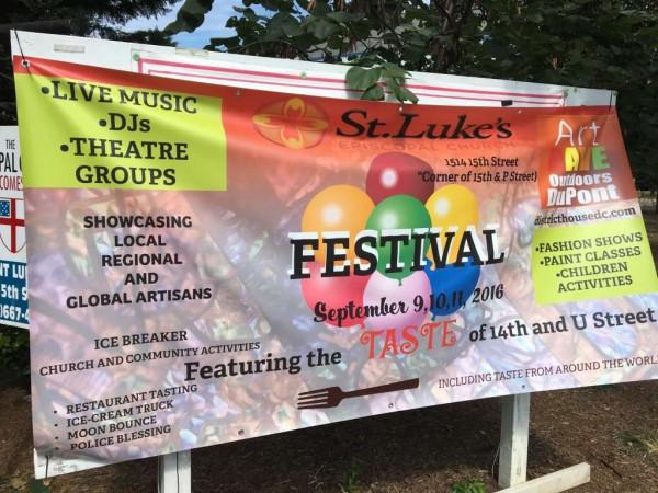St. Luke's festival banner