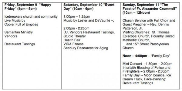 St. Luke's festival schedule
