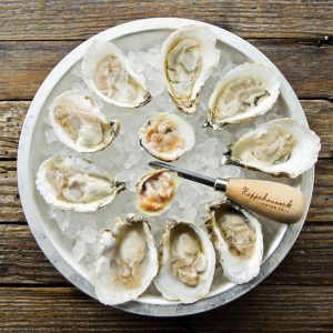Oyster Platter at Eat the Rich by Scott Suchman