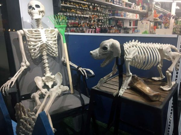 Skeletons at Logan Hardware on 14th Street