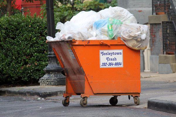 Tenleytown Trash dumpster in Dupont
