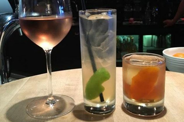 The Wydown's wine, gin & tonic and old fashioned