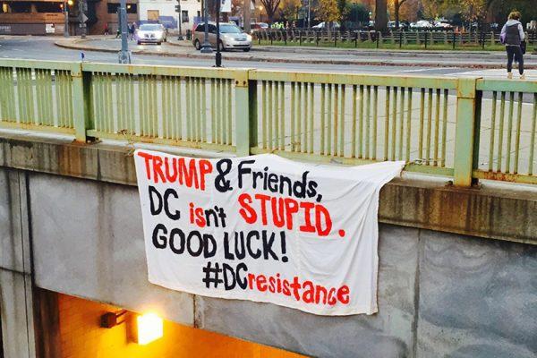 """""""D.C. Resistance"""" banner"""
