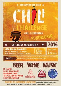 North Capitol Main Street chili cook-off flyer