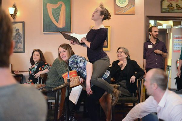 Shakespeare in the Pub, photo by Kevin Hollenbeck